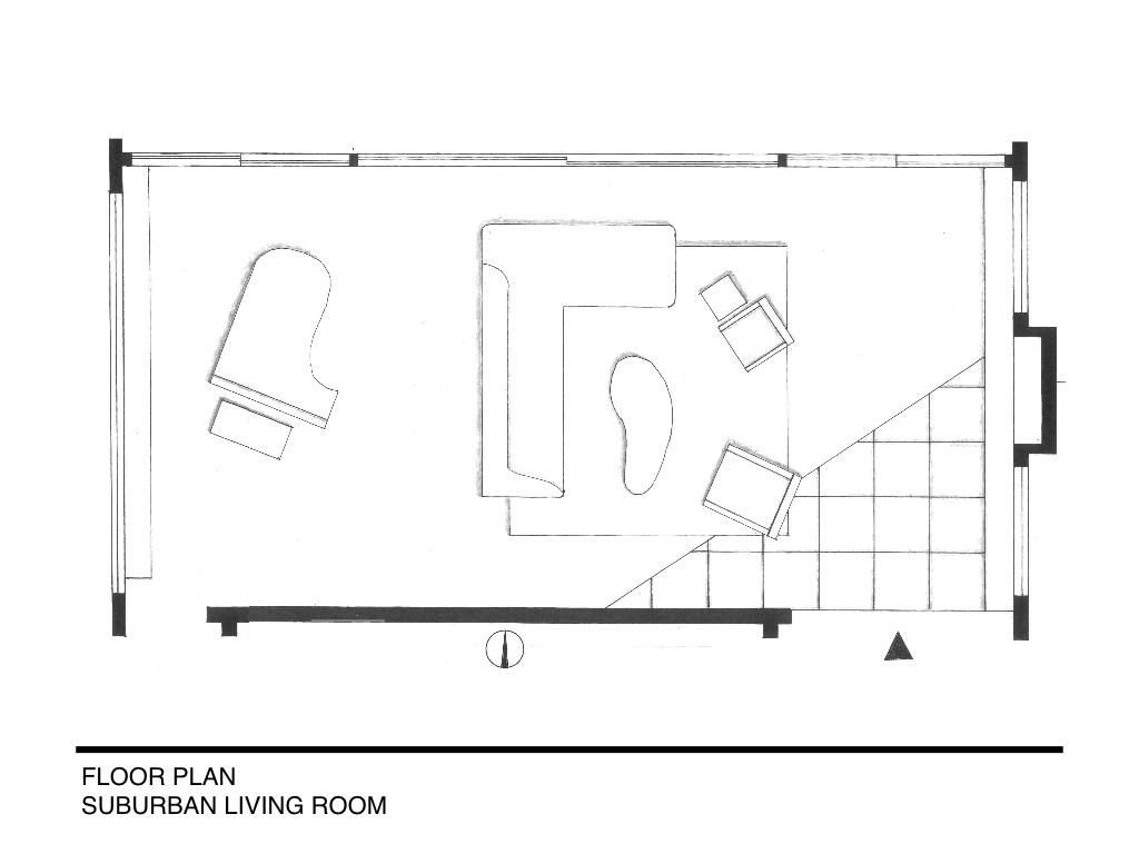 Suburban Living Room Interior Design